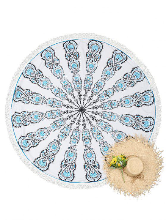 Canga Redonda de Mandala com Borla - Branco Tamanho único