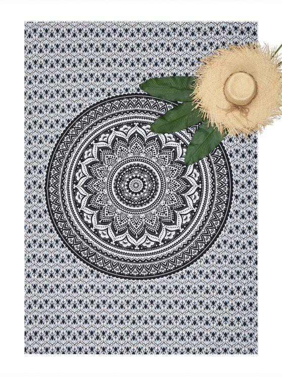 hot Rectangle Mandala Printed Beach Throw - COLORMIX ONE SIZE