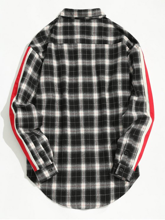 trendy Striped Checked Shirt - CHECKED L