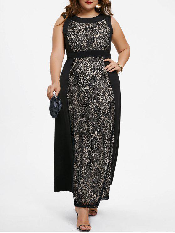 Plus Size Paisley Sleeveless Evening Dress