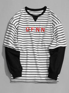 Dfnn Graphic Striped Sweatshirt - White L