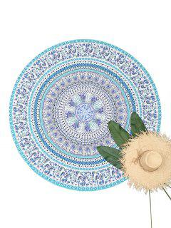 Mandala Round Tapestry Beach Throw