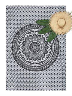 Rectangle Mandala Printed Beach Throw