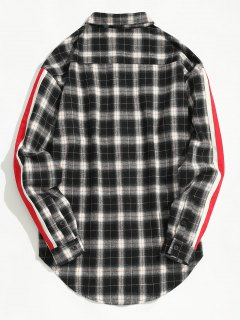 Striped Checked Shirt - Checked L
