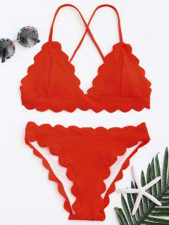 Überbackene Bikini-Set - Rot S
