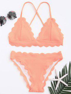 Scalloped Bikini Set - Pink M
