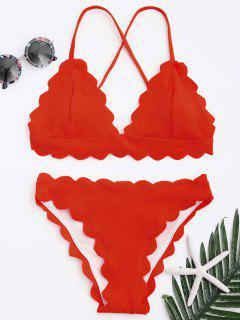 Ensemble Bikini Festonné - Rouge M