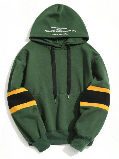 Pullover Contraste Color Hoodie - Verde 2XL Mobile