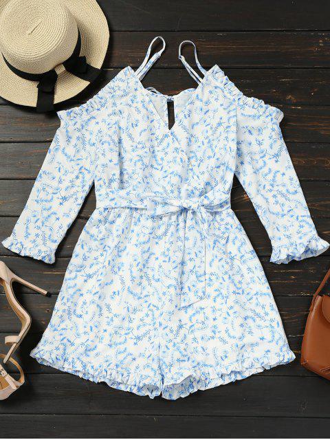Camisola de Cami con cinturón floral de hombros fríos - Floral S Mobile