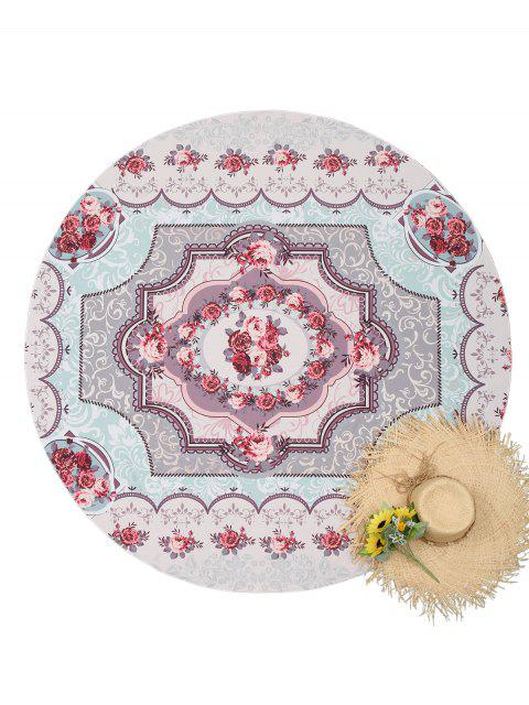 outfit Floral Round Tapestry Beach Throw - COLORMIX ONE SIZE Mobile