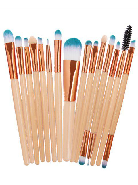 online 15Pcs Synthetic Fiber Hair Cosmetic Makeup Brush Set - COMPLEXION  Mobile