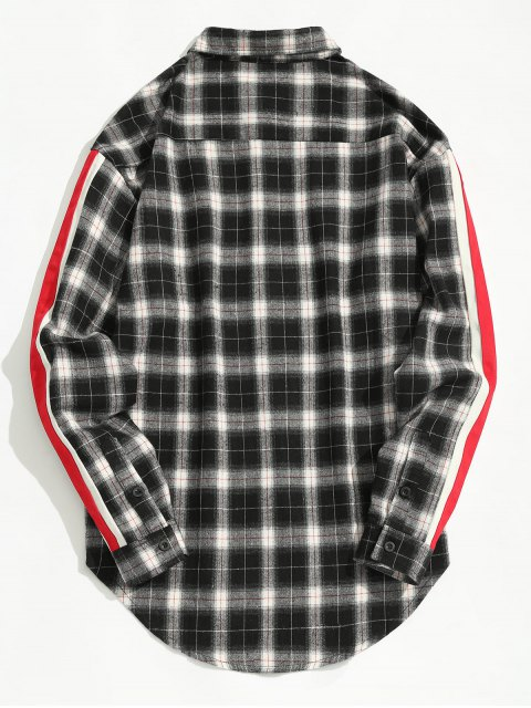 trendy Striped Checked Shirt - CHECKED L Mobile