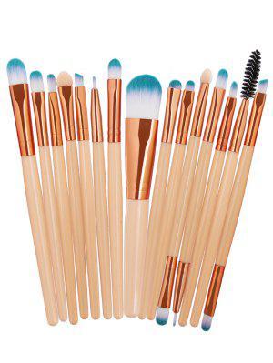 Set de cepillo cosmético del maquillaje del pelo de la fibra sintética 15Pcs