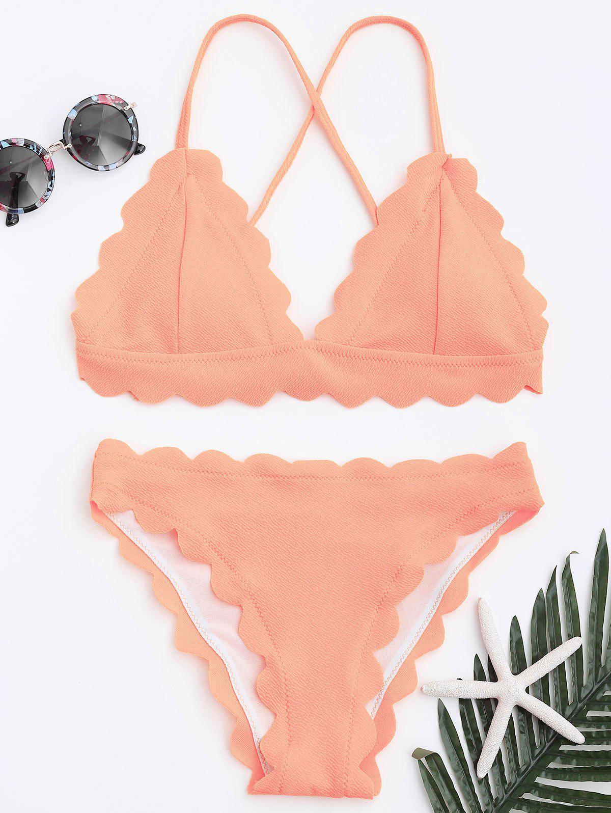 Scalloped Bikini Set