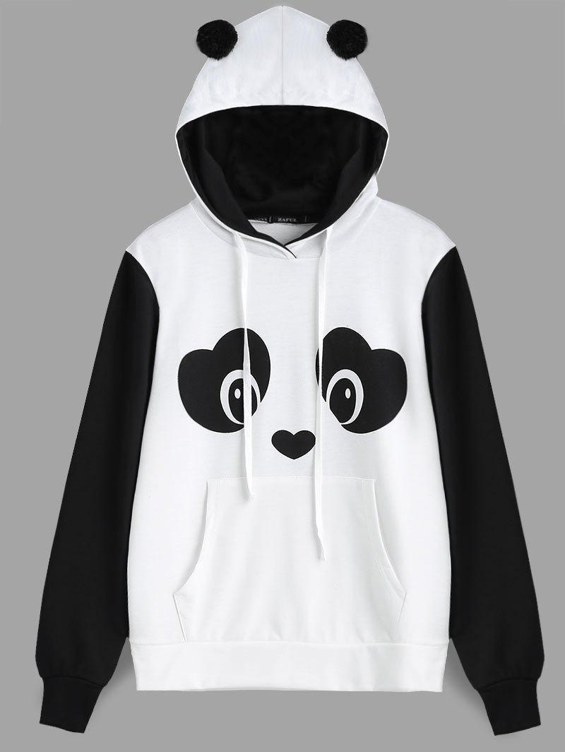 Panda Face Kangaroo Pocket Hoodie