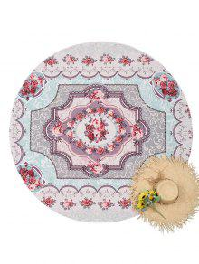 Buy Floral Round Tapestry Beach Throw - COLORMIX ONE SIZE