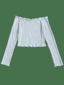 Descubiertos Costuras Sin Con Nublado S Camiseta Hombros HZw4FqnIq