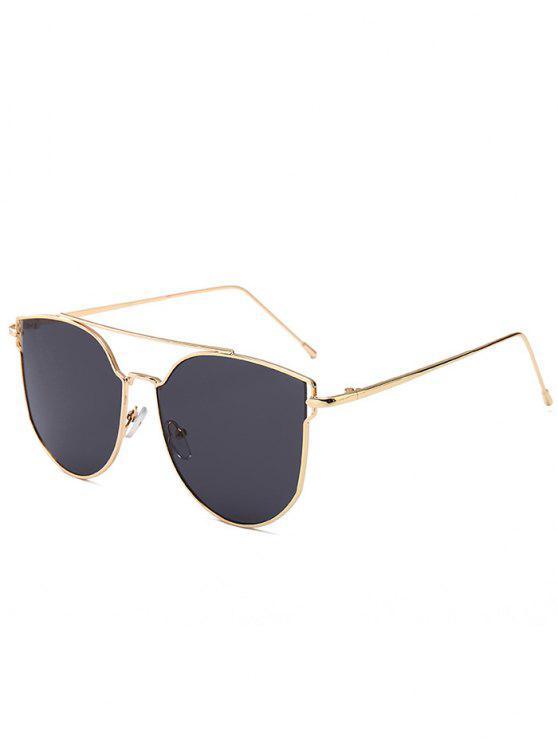 Gafas de sol ojo de gato antifatiga decoradas con barra de metal - GRIS OSCURO