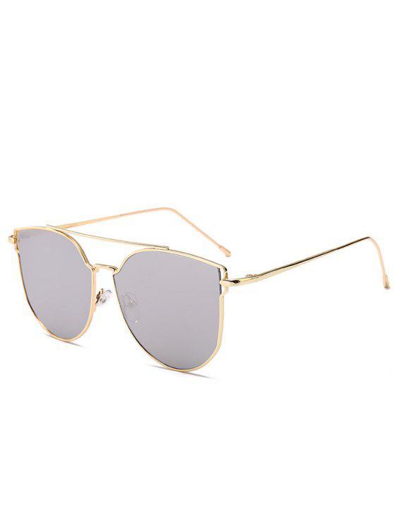 Anti-fadiga Metal Bar Decorado Olho Gato Óculos de sol - Mercúrio Branco