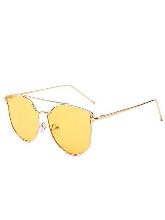 Anti-fatigue Metal Bar Decorated Cat Eye Sunglasses