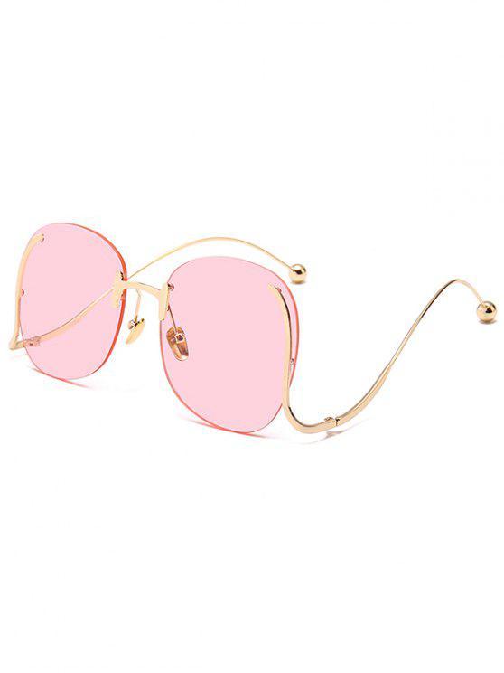 Gafas De Sol Sin Marco Anti-fatiga Para El Templo Irregular Rosa ...