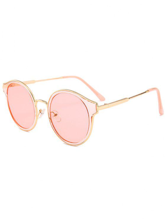529fe676114 16% OFF  2019 Metal Full Frame Cat Eye Round Sunglasses In PINK