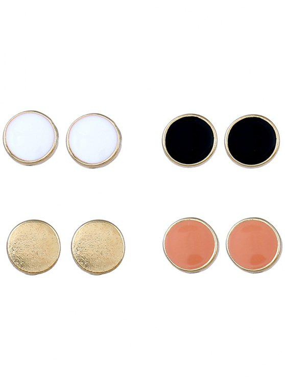 fancy Round Alloy Stud Earrings Suit - COLORMIX