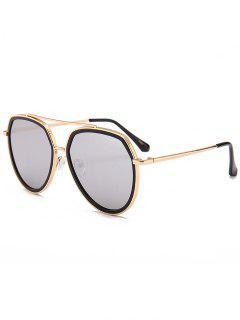 Gafas De Sol Piloto Decoradas Con Sombrillas De Metal - Reflejo Color Blanco