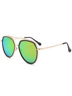Gafas De Sol Piloto Decoradas Con Sombrillas De Metal - Rojo Purpúreo