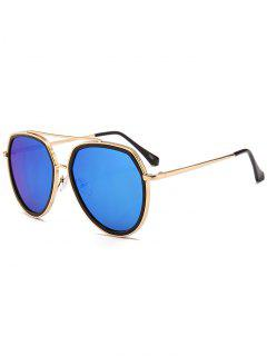 Gafas De Sol Piloto Decoradas Con Sombrillas De Metal - Azul