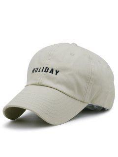HOLIDAY Embroidery Adjustable Baseball Cap - Khaki