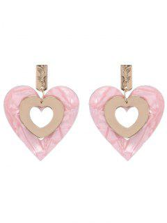 Love Heart Valentine's Day Earrings - Pink