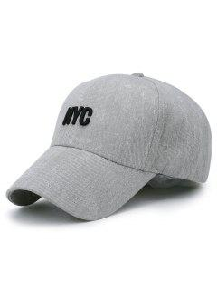 Unique NYC Pattern Washed Baseball Cap - Gray