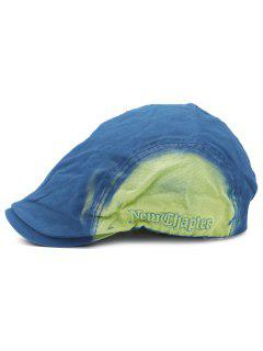 Gradient Color Pattern Adjustable Cabbie Hat - Blue