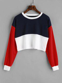 Contrast Crop Sweatshirt - Multi S
