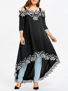 Robe Taille Haute à épaules Dénudées Et épaules Dénudées - Noir 2xl