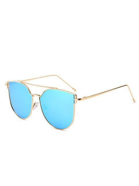 Anti-Müdigkeit Metall Bar verziert Cat Eye Sonnenbrillen - Blau  Mobile