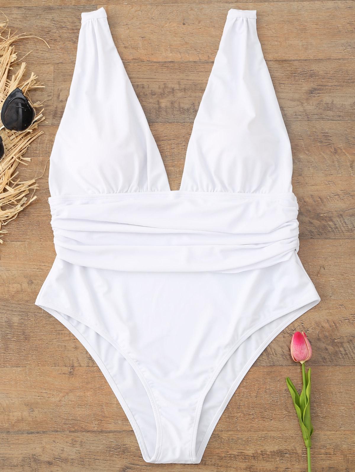 Plus Size Plunge Swimsuit