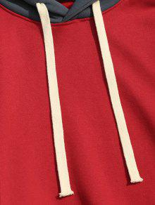 Xl Color De Rojo Con Polar Forro De Sudadera Bloque g7T1fw