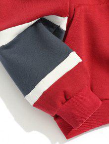 Xl Color Bloque De De Forro Rojo Con Sudadera Polar wSZqAx8x6
