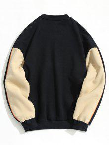 Cadetblue Fleece L Sudadera Color Block Lining Pullover nZ4XqZ7x