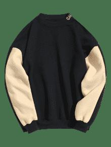 Cadetblue L Block Color Sudadera Lining Pullover Fleece ngHqF8x