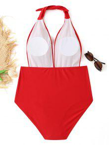 Halter o Plus Plisado Ba Traje Rojo Size Xl De qfIE4