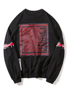 Sudadera Design Graphic Patch 2xl Negro g1vExFqwS