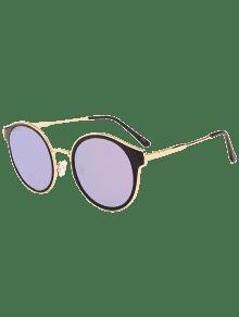 metall full frame cat eye runde sonnenbrille lila sonnenbrille zaful. Black Bedroom Furniture Sets. Home Design Ideas