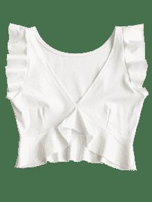 Cuello L Sin Redondo Redondo Con Mangas Escote Blanco PpAq4IfIn