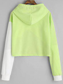 243;n Drop Claro Verde Hoodie L Con Cord Shoulder Contraste OqtEFpx