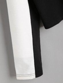 Sudadera M Recortada De Negro Bloque De Con Capucha Color xqzgB