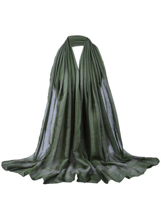 Patrón de color simple Soild Bufanda larga y transparente - Ejercito Verde