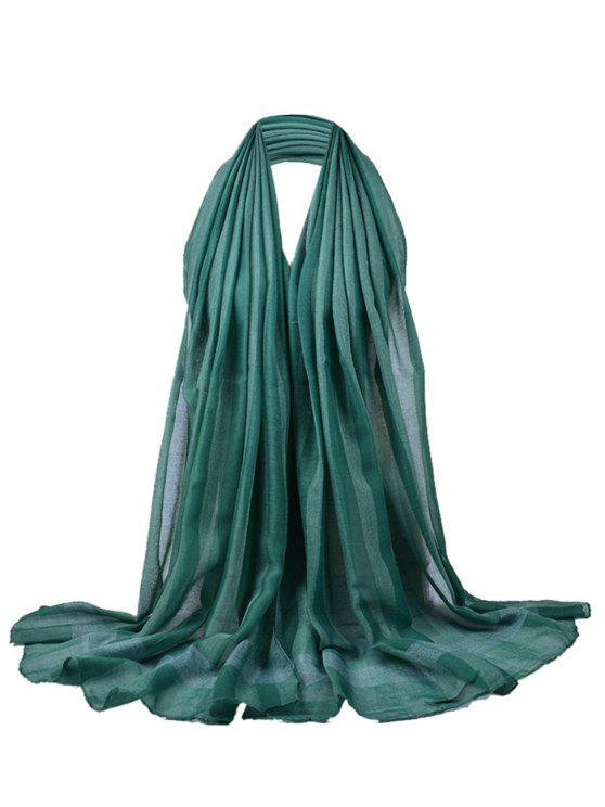 Einfacher Soild Farbmuster langer transparenter Schal - Grün